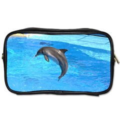 Jumping Dolphin Toiletries Bag (two Sides)