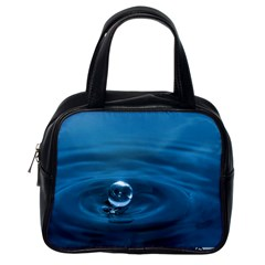 Water Drop Classic Handbag (one Side) by dogland