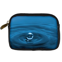 Water Drop Digital Camera Leather Case by dogland