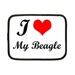 I Love My Beagle Netbook Case (small) by free