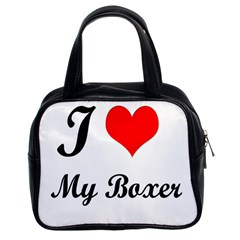I Love My Beagle Classic Handbag (two Sides) by free