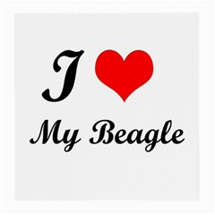 I Love My Beagle Glasses Cloth (medium, Two Sides) by premium