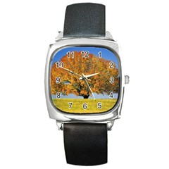 Tree1 Square Metal Watch