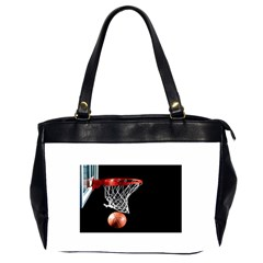 Basketball Hoops Oversize Office Handbag (two Sides)
