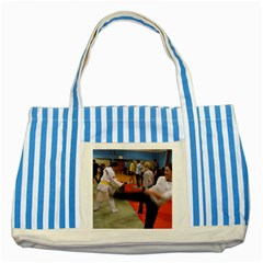Martial Arts Striped Blue Tote Bag by ArtsCafecom3