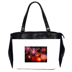 Fireworks Twin Sided Oversized Handbag by level1premium