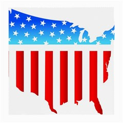 Usa Flag Map Twin-sided Large Glasses Cleaning Cloth by level3101