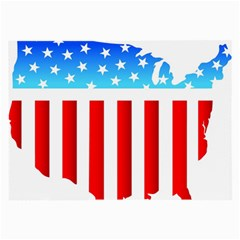 Usa Flag Map Single-sided Handkerchief by level3101