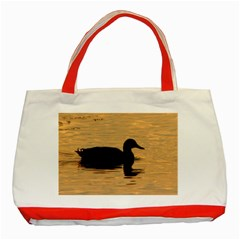 Lone Duck Red Tote Bag by tammystotesandtreasures