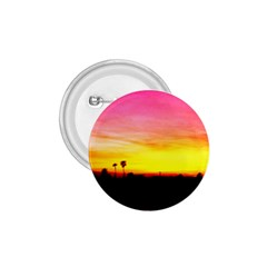 Pink Sunset Small Button (round) by tammystotesandtreasures
