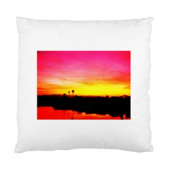 Pink Sunset Twin Sided Cushion Case by tammystotesandtreasures