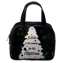 Jesus Is The Reason Single Sided Satchel Handbag by tammystotesandtreasures