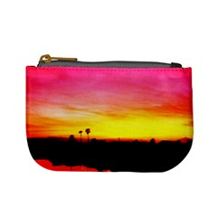 Pink Sunset Coin Change Purse by tammystotesandtreasures