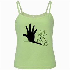 Rabbit Hand Shadow Green Spaghetti Top by rabbithandshadow