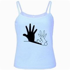 Rabbit Hand Shadow Baby Blue Spaghetti Top by rabbithandshadow