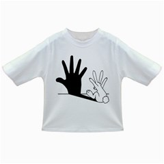 Rabbit Hand Shadow Baby T Shirt by rabbithandshadow
