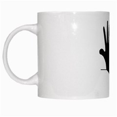 Rabbit Hand Shadow White Coffee Mug by rabbithandshadow