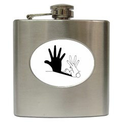 Rabbit Hand Shadow Hip Flask by rabbithandshadow