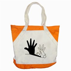Rabbit Hand Shadow Snap Tote Bag by rabbithandshadow