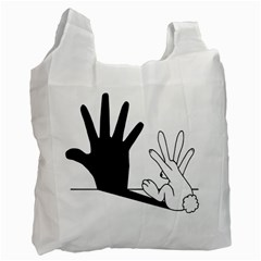 Rabbit Hand Shadow Twin Sided Reusable Shopping Bag by rabbithandshadow