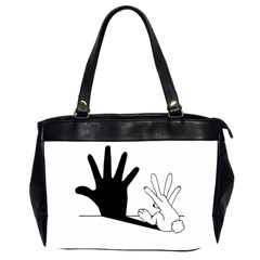 Rabbit Hand Shadow Twin Sided Oversized Handbag by rabbithandshadow