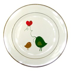 Love Birds Porcelain Display Plate by LoveBirds
