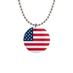 Flag Mini Button Necklace by tammystotesandtreasures