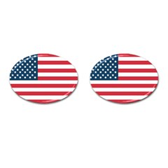 Flag Oval Cuff Links by tammystotesandtreasures