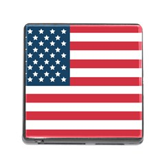 Flag Card Reader With Storage (square) by tammystotesandtreasures