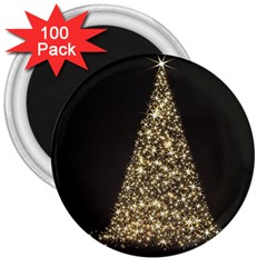 Christmas Tree Sparkle Jpg 100 Pack Large Magnet (round) by tammystotesandtreasures
