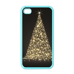 Christmas Tree Sparkle Jpg Apple Iphone 4 Case (color) by tammystotesandtreasures