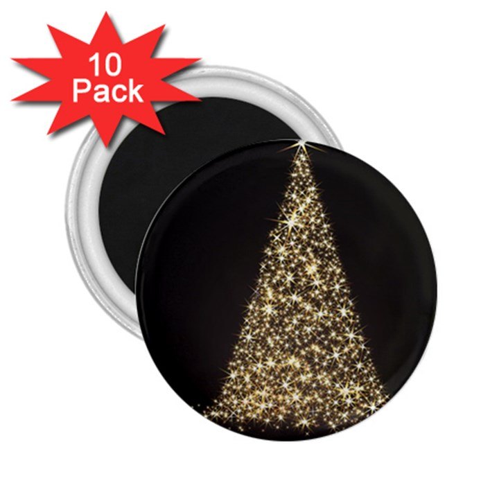 Christmas Tree Sparkle Jpg 10 Pack Regular Magnet (Round)