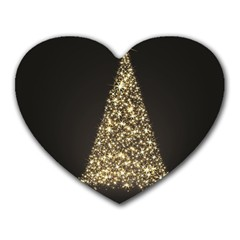 Christmas Tree Sparkle Jpg Mouse Pad (heart) by tammystotesandtreasures