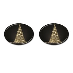 Christmas Tree Sparkle Jpg Oval Cuff Links by tammystotesandtreasures