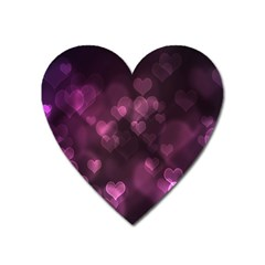 Purple Bokeh Large Sticker Magnet (heart) by PurpleVIP