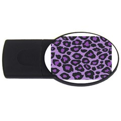 Purple Leopard Print 2gb Usb Flash Drive (oval) by PurpleVIP