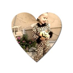Trick Or Treat Baby Large Sticker Magnet (heart) by tammystotesandtreasures