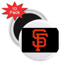 Sf Giants Logo 10 Pack Regular Magnet (round) by tammystotesandtreasures