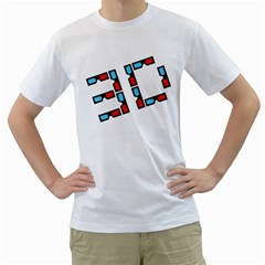 Tees 3d Glasses White Mens  T-shirt by uTees