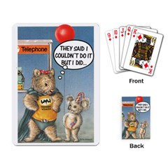 Wombat Woman Standard Playing Cards