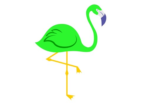 Lime Green Flamingo logo